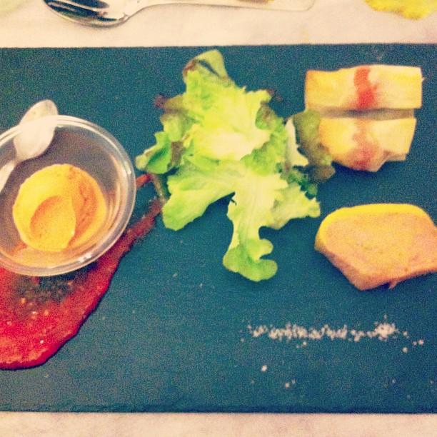 Foie gras et poivron rouge confit