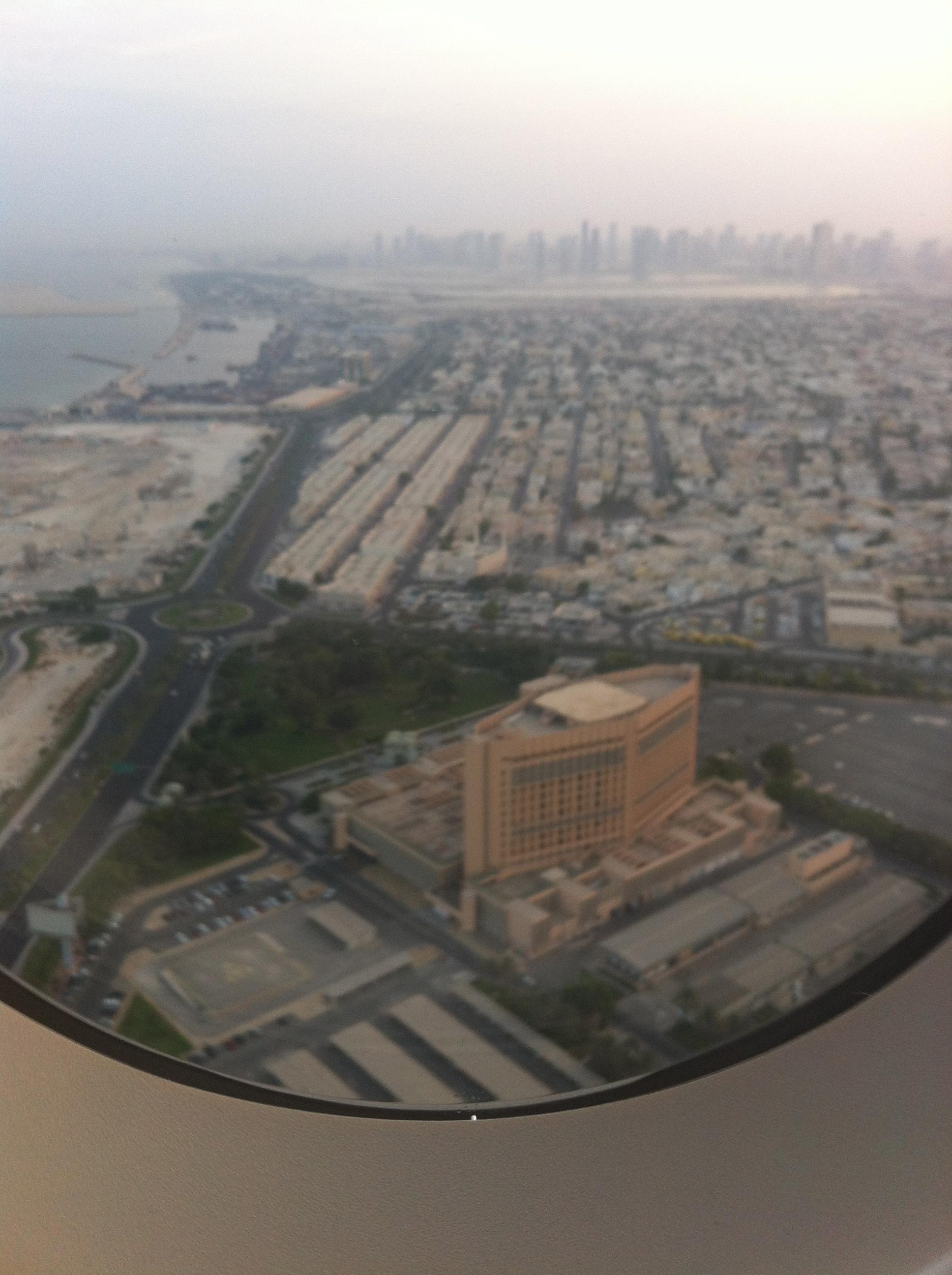 Vue sur Dubaï depuis l'avion