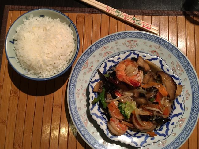 crevettes aux légumes Fa-ngam
